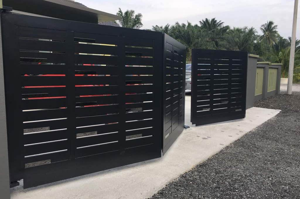 Trackless folding gate - Emperor Secure Management Sdn Bhd